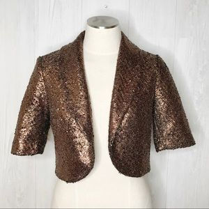 [Elevenses] Anthro Copper Cropped Jacket Sz. S